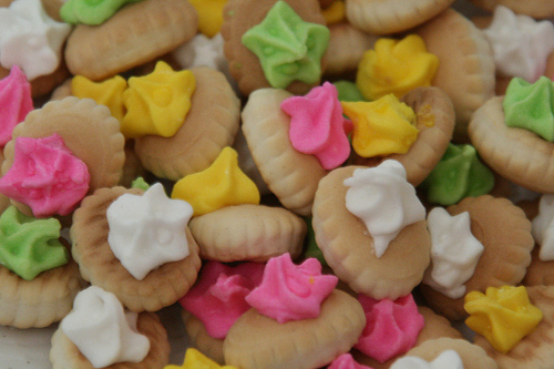 colourful biscuits