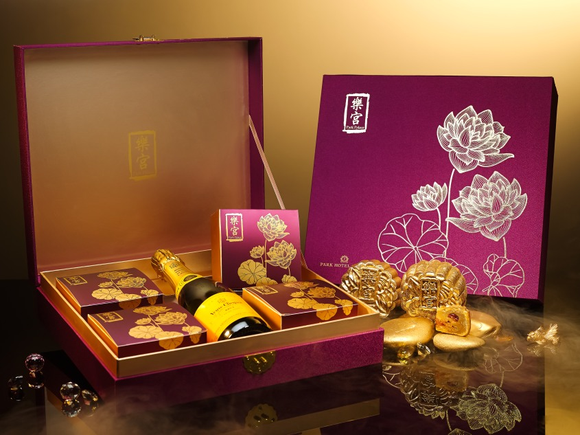 Premium Mooncake Box with Veuve Clicquot