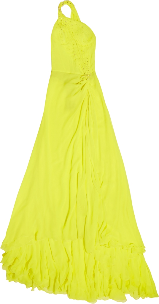 Roberto Cavalli Yellow Gown