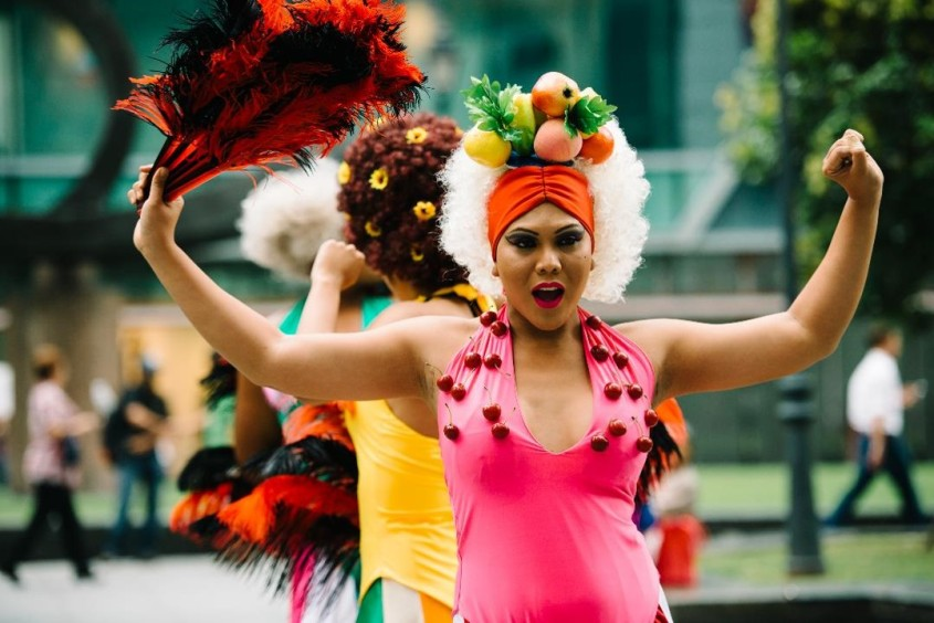 Drag Queens in Bright Costumes