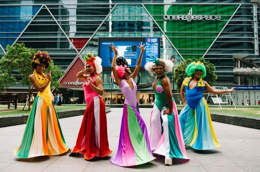 Drag Queens Promoting Upcoming Musical Priscilla Queen of the Desert