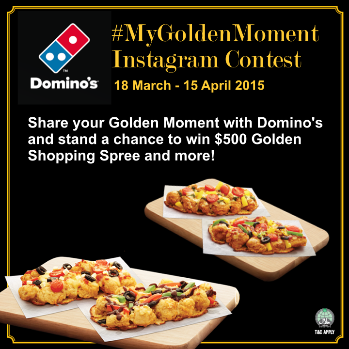 Domino's Golden Moment Contest Poster