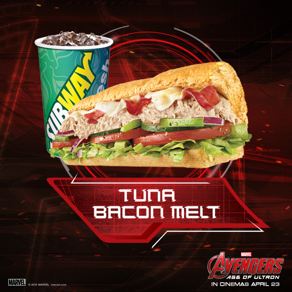 Subway Avengers Tuna Bacon Melt