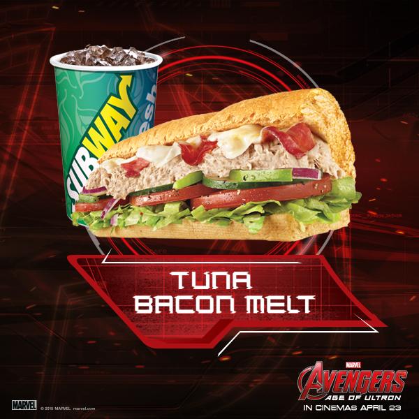 Subway Avengers Tuna Bacon Melt
