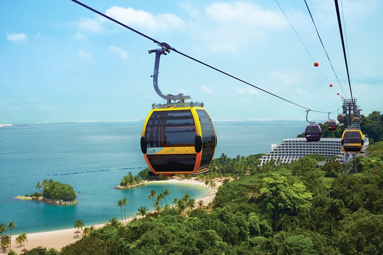 Singapore S Iconic Cable Car Opens New Line On Sentosa