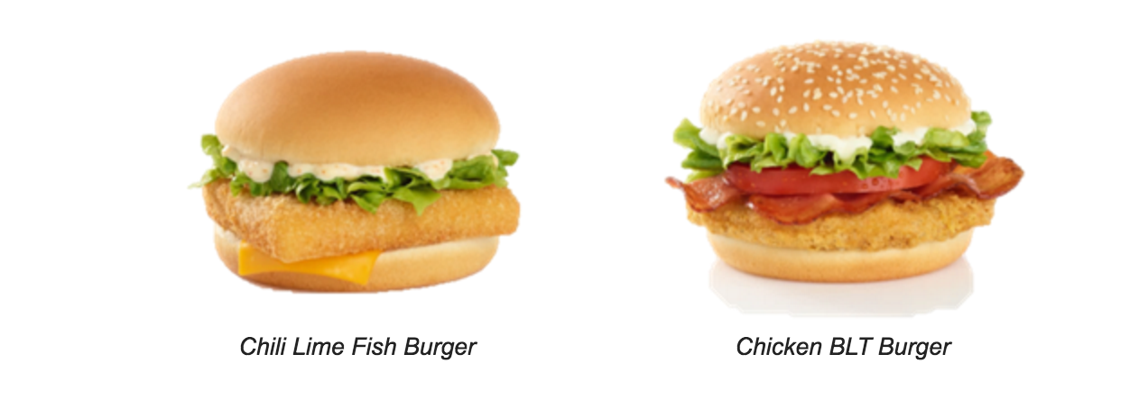McDonald's® expands variety of Extra Value Meals with the new  Chili Lime Fish Burger and Chicken BLT Burger